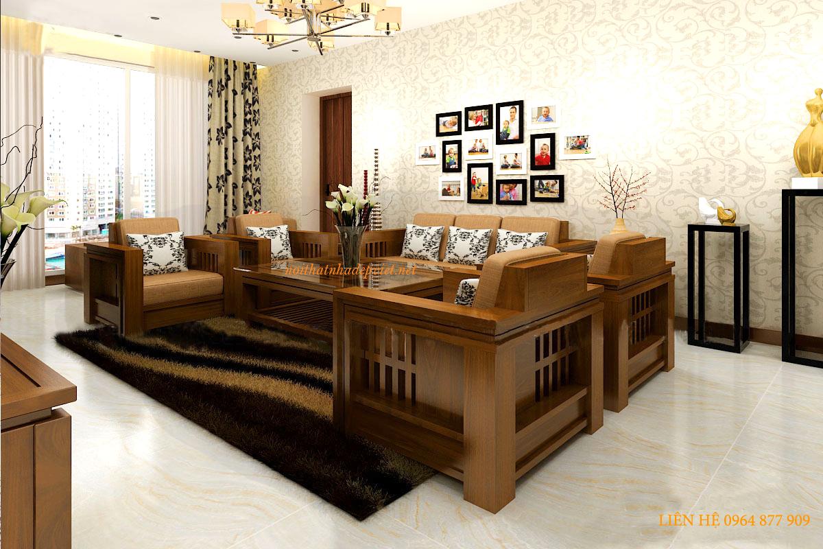 Mẫu Bàn Ghế Gỗ đẹp Phòng Khách BG04