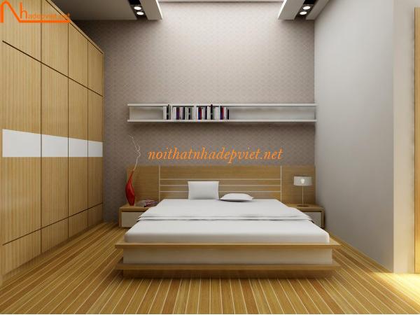 Mẫu Giường Ngủ Gỗ đơn Giản Hiện đại GN02
