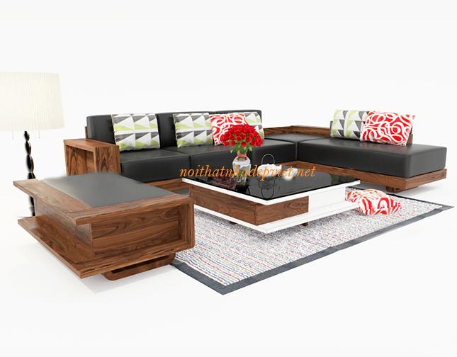Sofa Gỗ Sồi Kiểu Dáng Hiện đại SF05