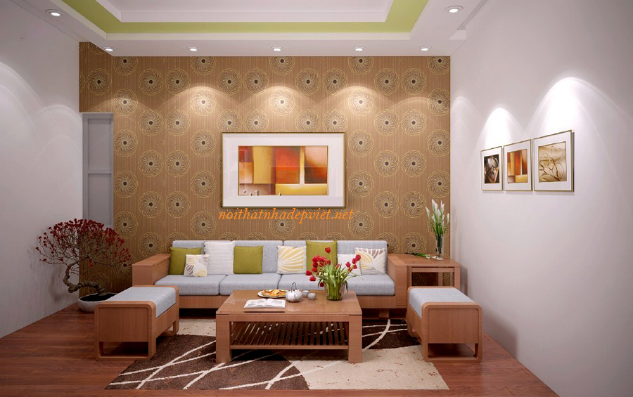 Mẫu Sofa Gỗ đẹp Nhỏ Gọn Cho Phòng Khách SF06