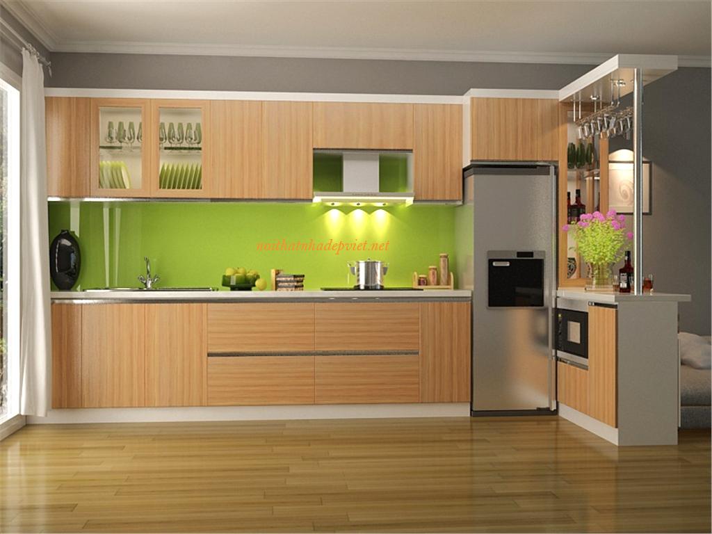 Tủ Bếp Kết Hợp Quầy Bar Trong Bếp TB03