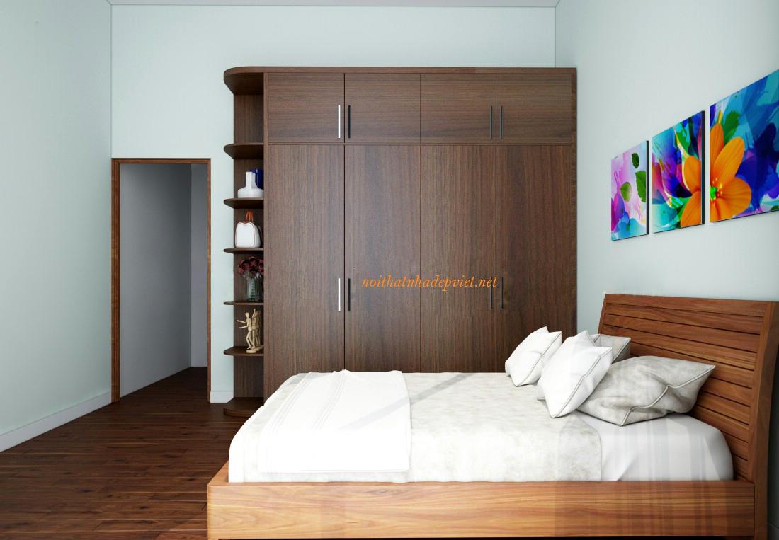 Tủ áo đẹp Hiện đại Gỗ Laminate TA02