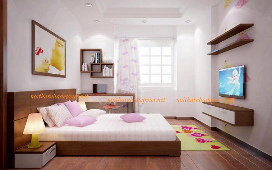 Bộ Giường Ngủ đẹp Gỗ Tự Nhiên GN12