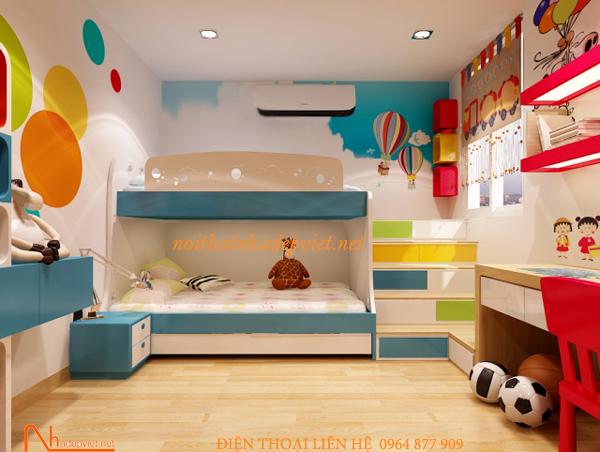 Giường 2 Tầng Gỗ Trẻ Em GT03