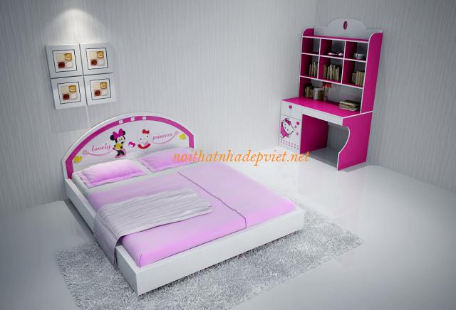 Mẫu Giường Ngủ đẹp Dành Cho Bé Gái GNBG01