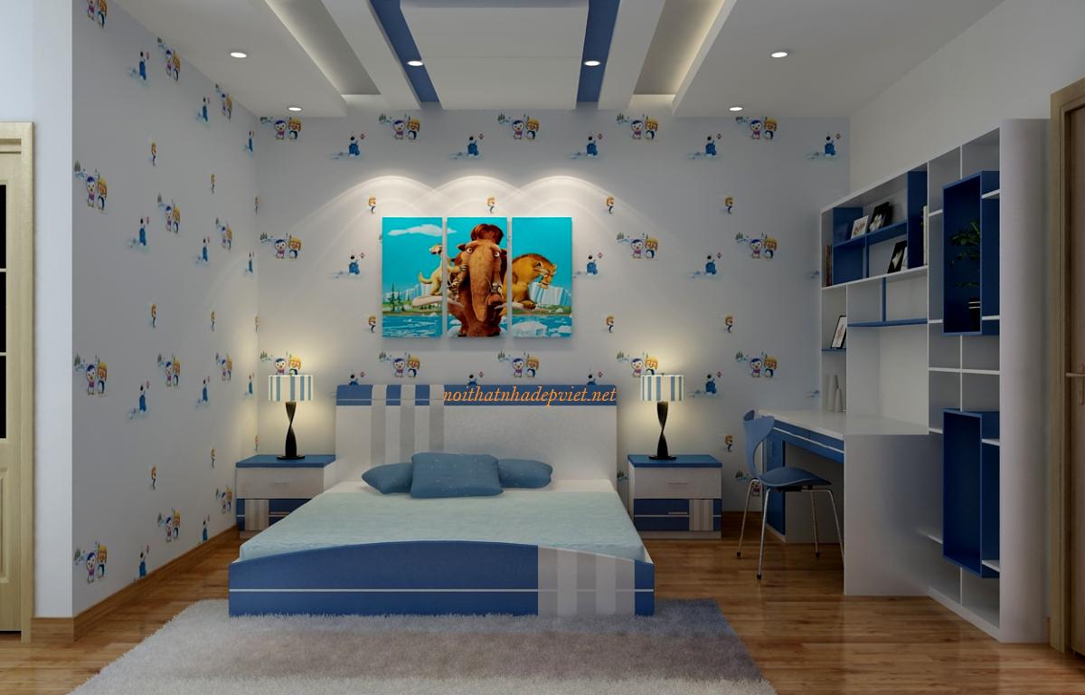 Thiết Kế Nội Thất Phòng Ngủ đẹp Cho Con Trai GNBT03