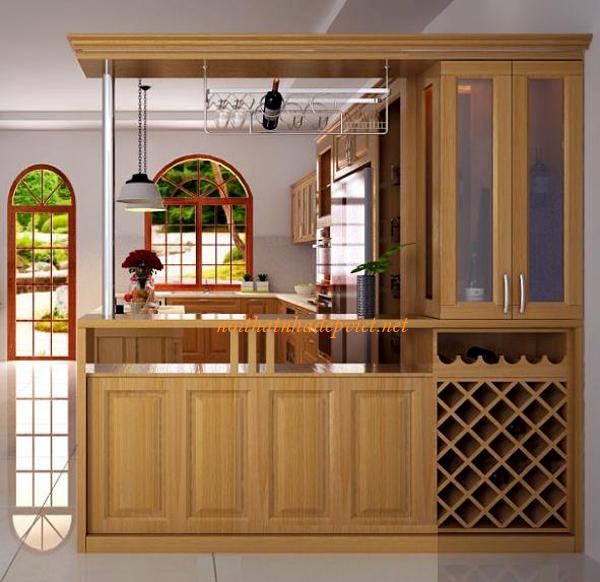 Thiết Kế Quầy Bar Tủ Rượu đẹp QB01