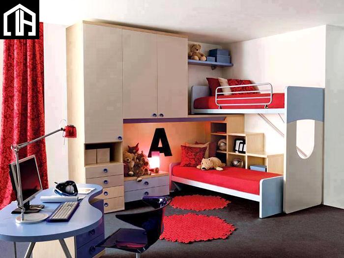Giường Ngủ 2 Tầng Gỗ đẹp Cho Bé GT09