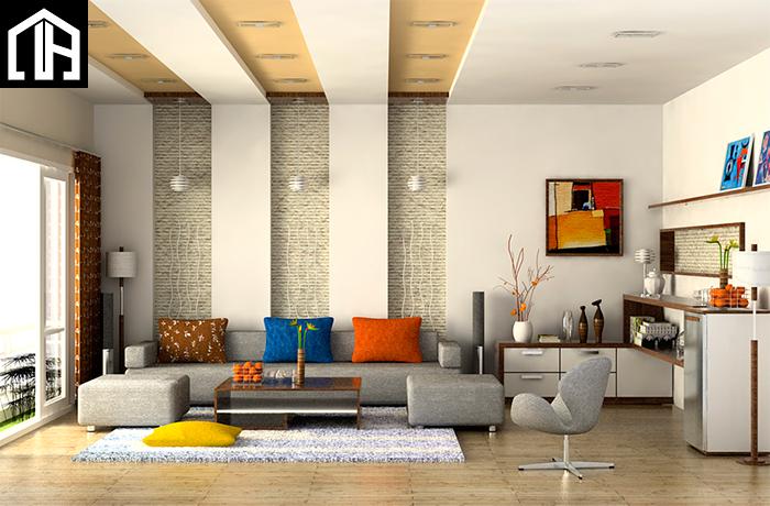 Bàn Ghế Sofa Nỉ đẹp Phòng Khách Hiện đại SF18
