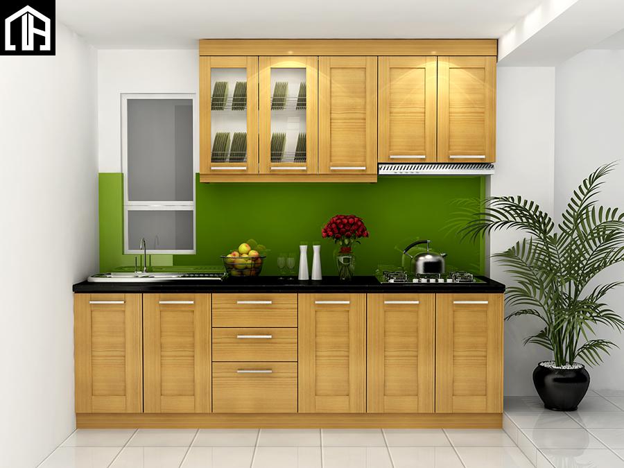 Tủ Bếp đẹp Hiện đại Nhỏ Gọn Chữ I TB27