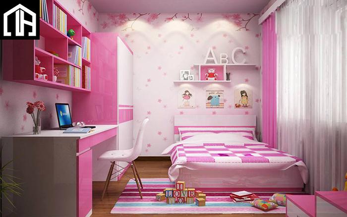 Nội Thất Phòng Ngủ đẹp Màu Hồng Bé Gái PNBG08