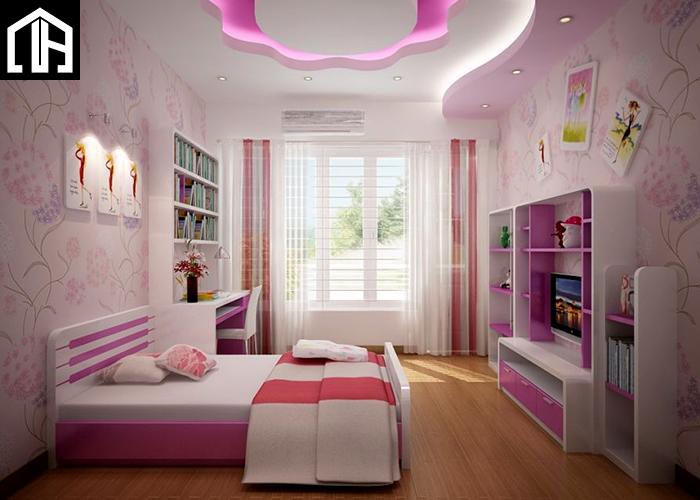 Nội Thất Phòng Ngủ đẹp Hiện đại Cho Bé Gái PNBG10