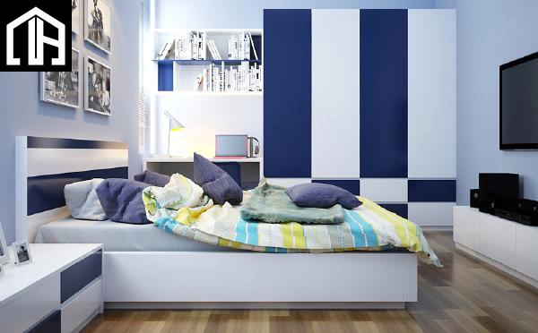 Phòng Ngủ đẹp Bé Trai Màu Xanh PNBT09