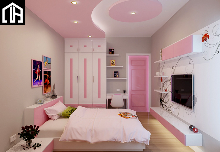 Mẫu Phòng Ngủ đẹp Cho Con Gái PNBG07