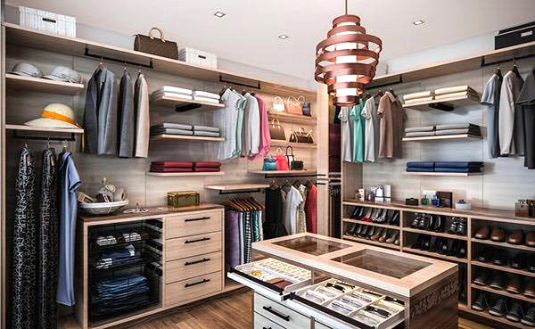 Những Mẫu Thiết Kế Tủ Quần áo đẹp Hiện đại Kết Hợp Phòng Thay đồ
