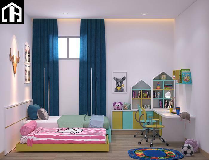 Thi Công Hoàn Thiện Nội Thất Phòng Ngủ Master Và Phòng Ngủ Con